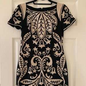 French Connection Beaded and Embroidered Dress